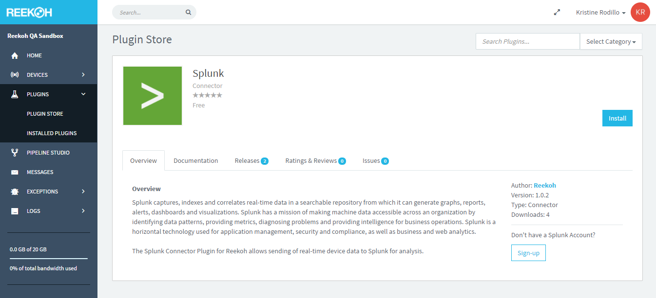 Reekoh   How To Guide: Splunk Connector Plugin