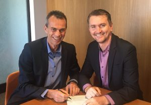 WaterGroup MD, Guenter Hauber_Davidson and Reekoh CEO, Dale Rankine